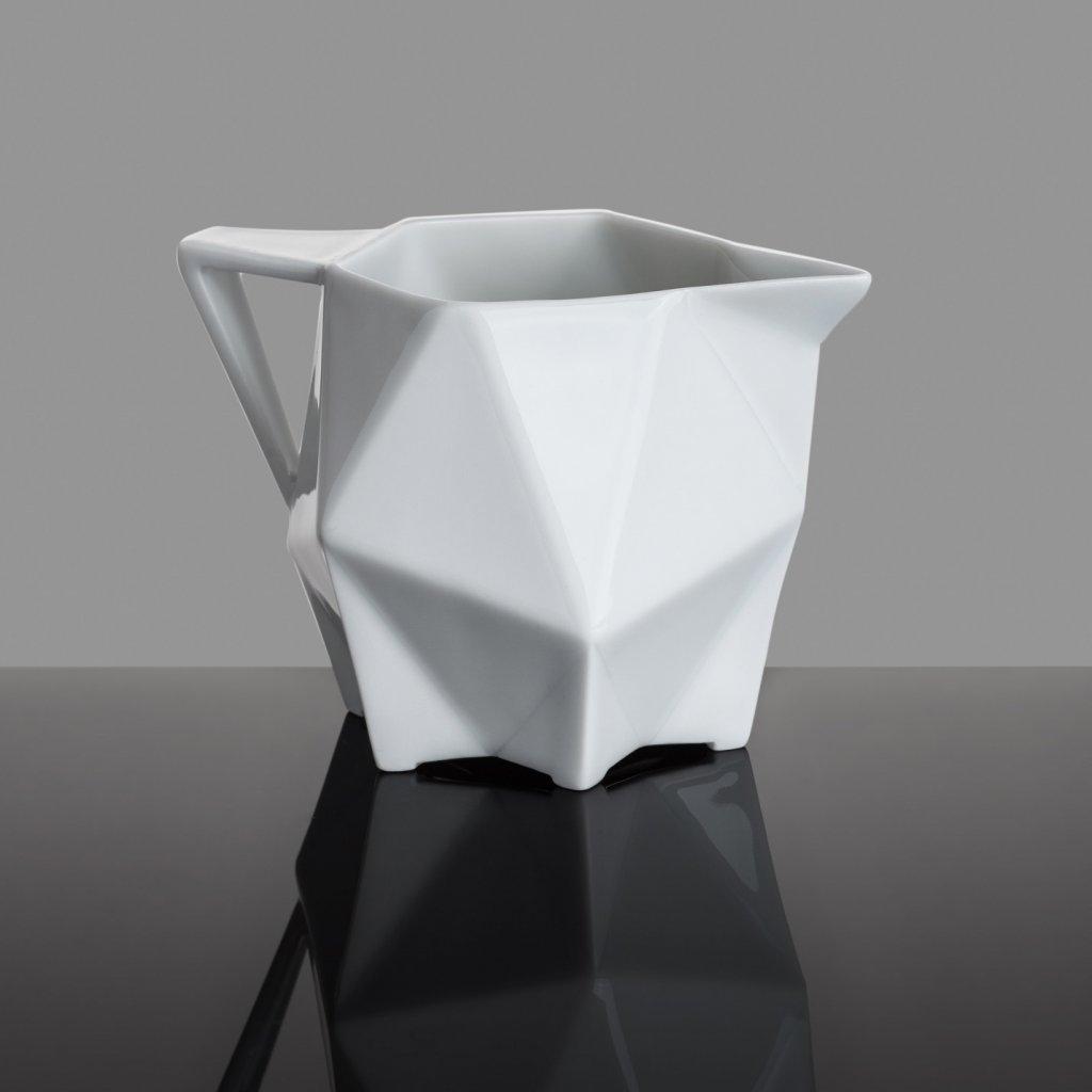 geometric porcelain creamer