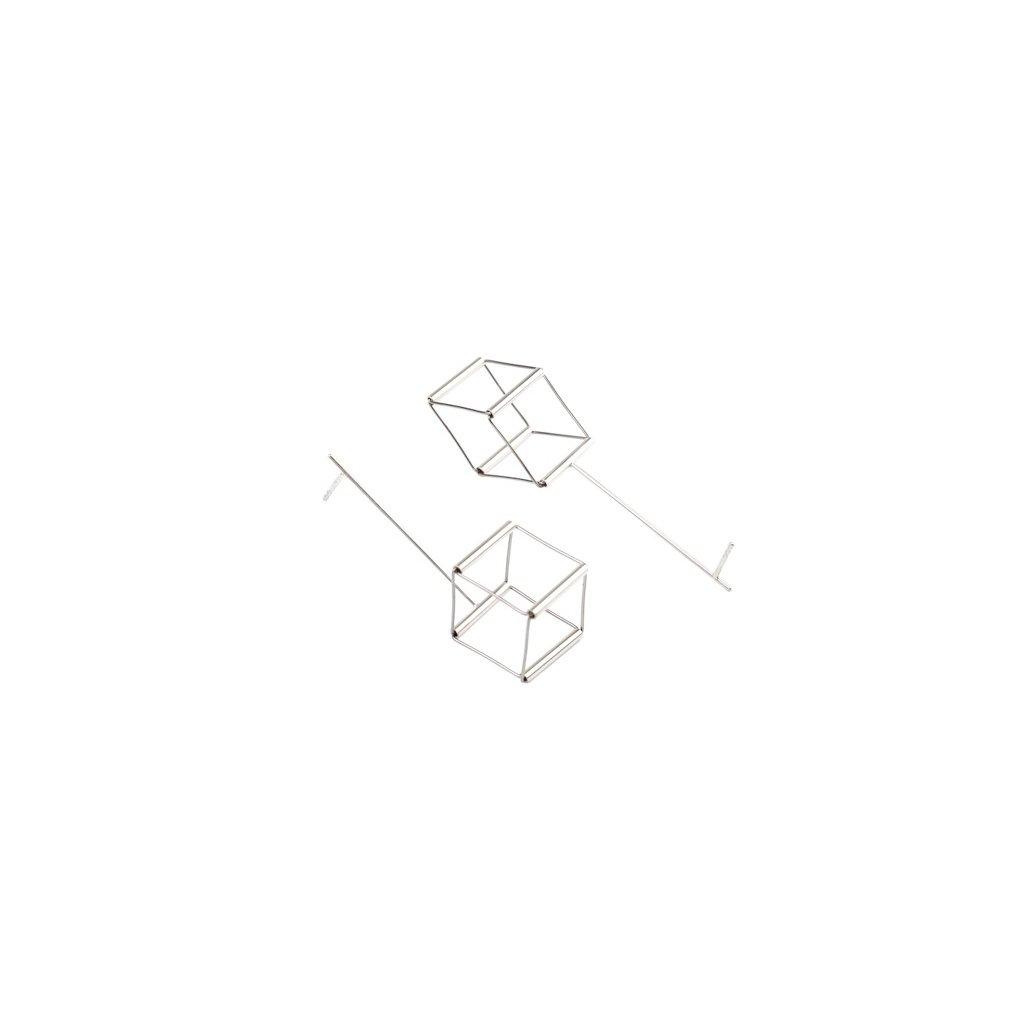 Cube náušnice visací krychle