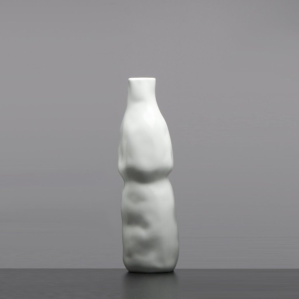 Porcelánová vázá bíla Abstract Vase White Qubus