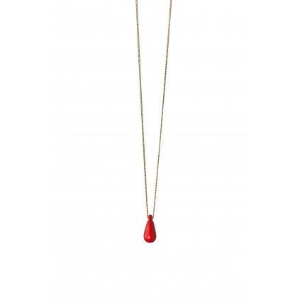 Náhrdelník červená kapka Eva Růžičková