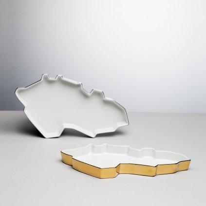 Porcelánový tácek gold Republic Tray od Maxima Velčovského
