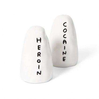 Cocaine Salt & Pepper shaker, David Shrigley