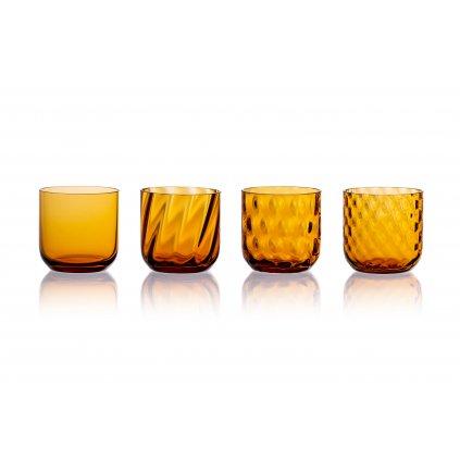 Křišťálový svícen amber