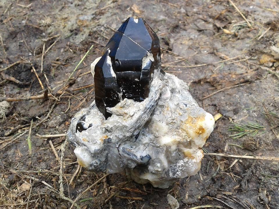 Záhněda, morion, krystal, kámen, minerál, Vysočina, Morava