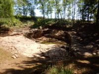 Pohled na obecní lom kamene