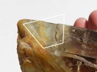 Klíčový vtisk na stěně krystalu z Vysočiny