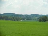 Panorama krajiny směrem ke Sklenému nad Oslavou