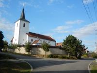 Odbočka pod kostelem sv. Jiljí do Hatí