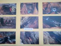 Velkoplošné fotografie z podzemí z důlního díla Hatě