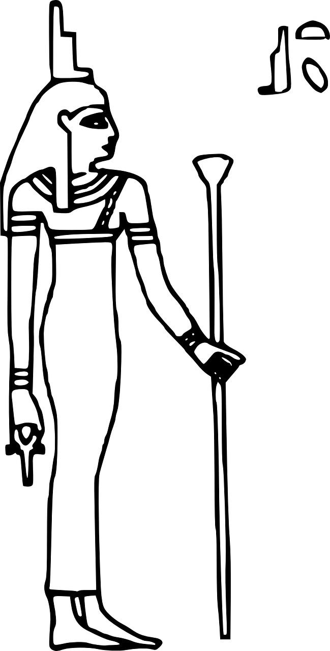 Isis -bohyně, matka - starověký Egypt