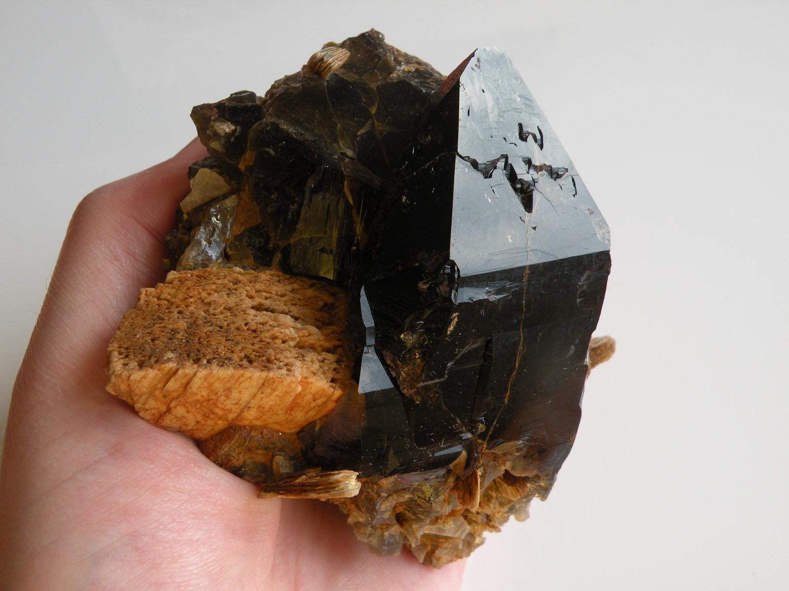 Morion, záhněda, kámen, krystal, minerál, Vysočina, Morava, Česká republika