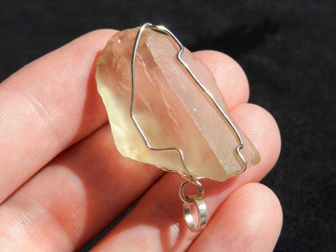 privesek stribrny kamen citrin drahokam cesky pravy prirodni sperk obrazek 1