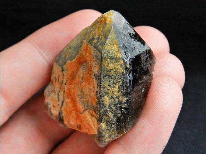 srostlice morion krystaly cerny pokryty cesky mineral drahy kamen 1