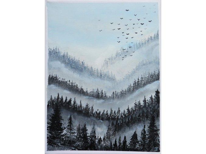 rucne malovany obraz akrylovymi barvami platno ram cesky obrazky 1 (2)