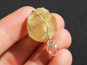 privesek stribrny prirodnim ceskym kamenem citrin citrinem pravym obrazky 1