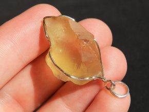 stribrny privesek s pravym cesky citrinem syte zlutym prodej obrazky 1