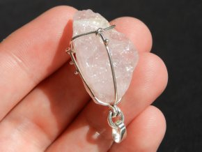 privesek stribrny luxusni ruzeninem ceskym kamenem mineralem obrazky 1