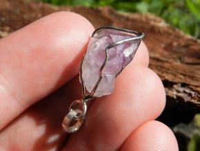 ametystovy stribrny privesek pravy cesky kamen krystal ceska mez fialovy obrazky prodej 1