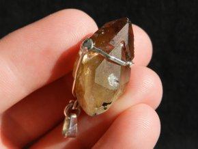 citrin stribrny privesek krystal cesky drahy kamen prodej 1