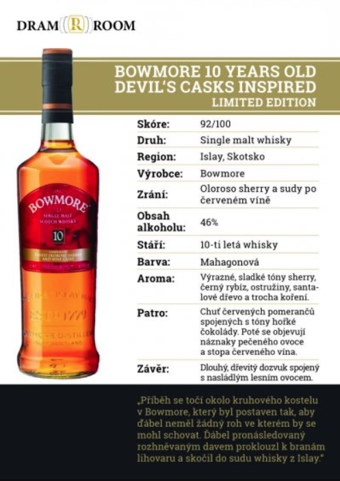 Bowmore 10 YO Devil's