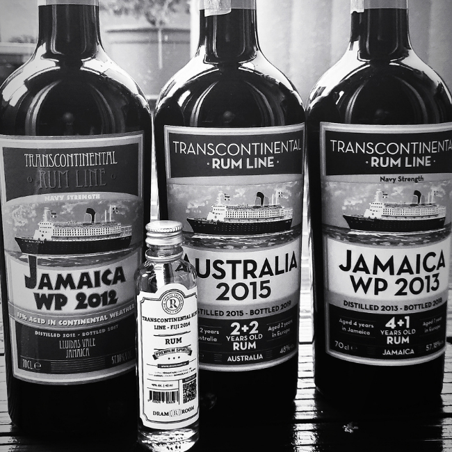 Recenze: Transcontinental Rum Line Australia 2015, 48%, Jamaica WP 2013, 57,18%, Jamaica WP 2012, 57,18%, Fiji 2014, 48%