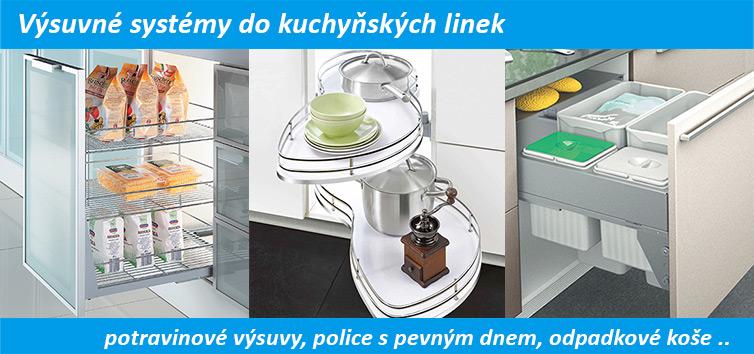 Výsuvné systémy do kuchyně.