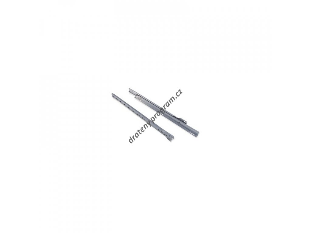 Rolničkový výsuv k šatním košům - stříbrný epoxid