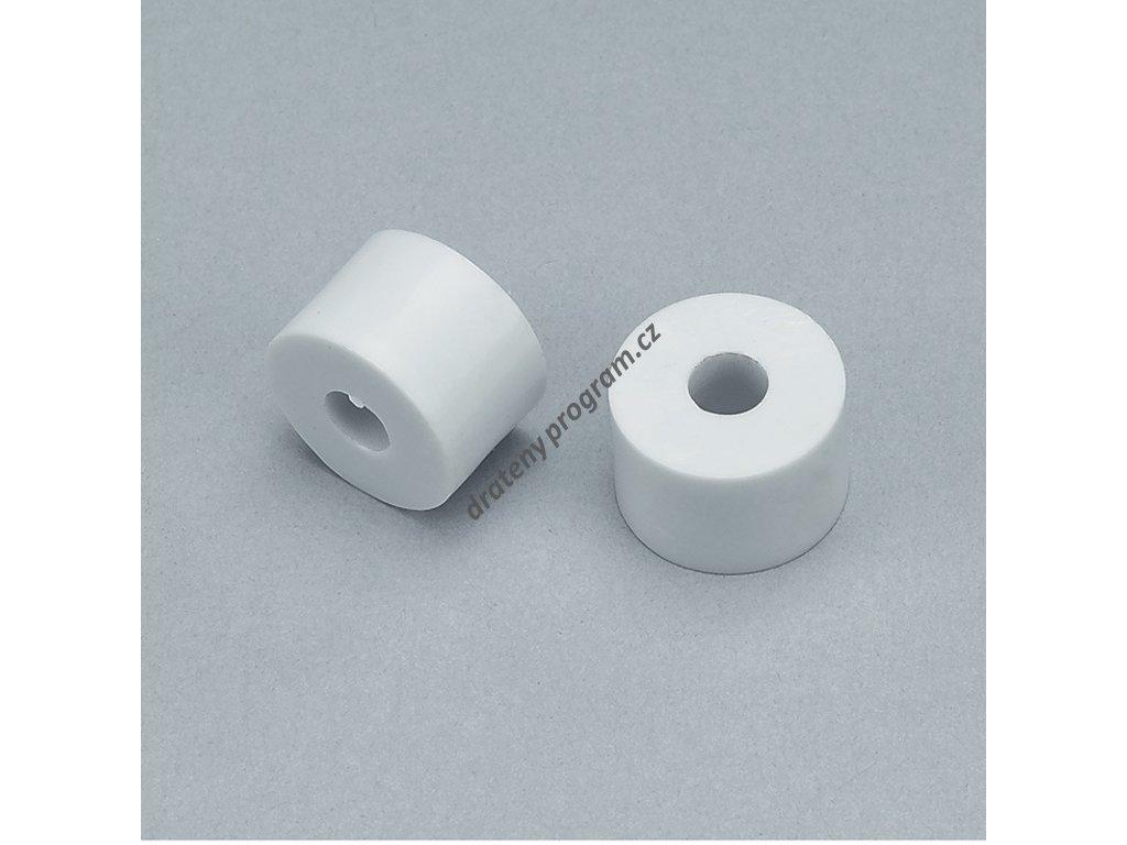 distanční podložka k šatním košům - průměr 15x10 mm - bílý plast