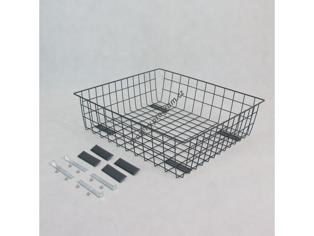 výsuvný šatní koš 700/150 mm, stříbrný epoxid