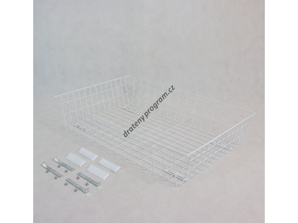 výsuvný šatní koš 800/150 mm, bílý epoxid