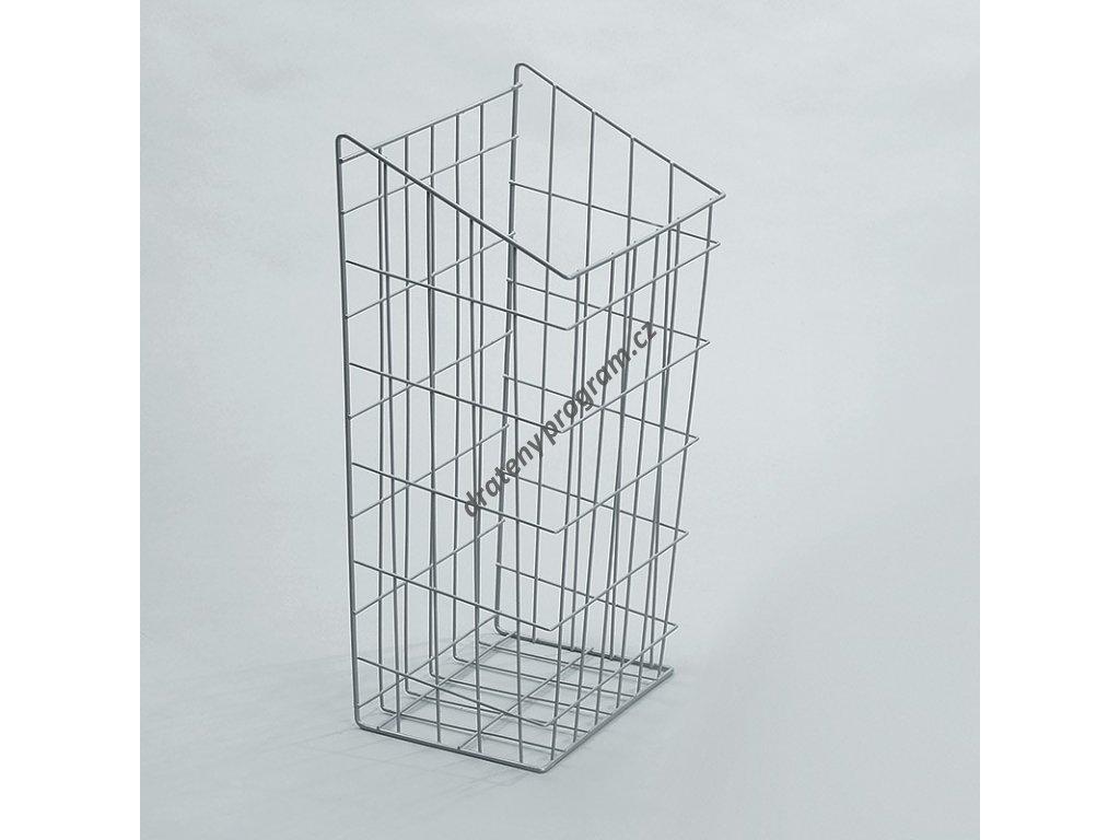 prádelní koš, 440x245x600 mm, stříbrný epoxid
