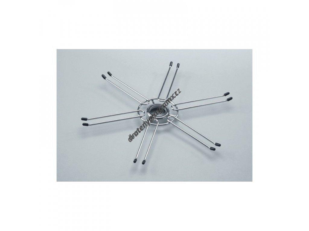 držák sklenic průměr 400mm - chrom mat.