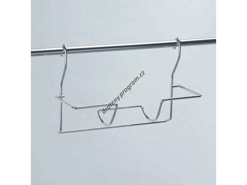 Nosič rolí papíru jednostupňový - chrom mat
