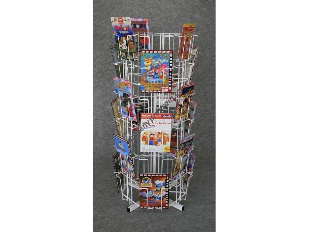 Pultový otočný stojan 42 x DVD / formát A5
