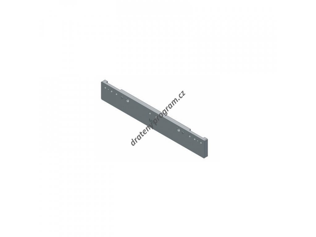 Distanční podložka k šatním výsuvům Hogar Plus, tl. 9,5 mm, šedý plast