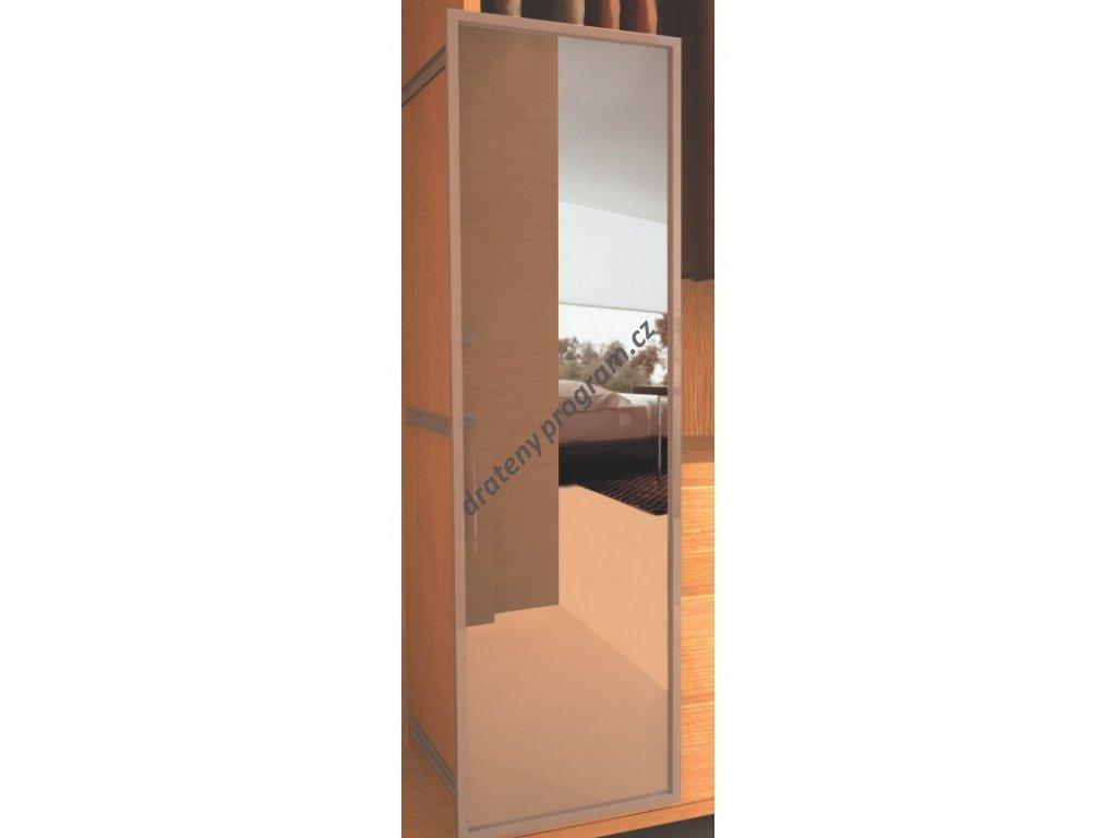 Plnovýsuvné zrcadlo, 480x50x596 mm, hliník eloxovaný
