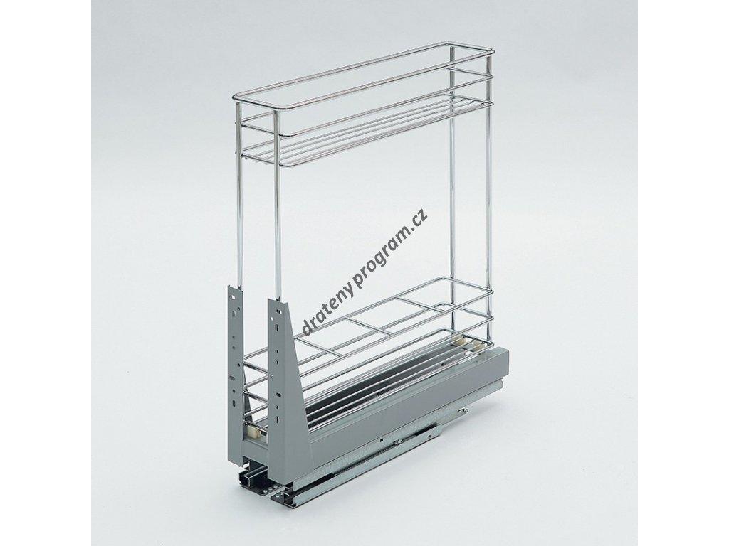 Plnovýsuvný dvojkoš Komfort spodní s tlumeným dovřením, 108x465x522 mm, chrom