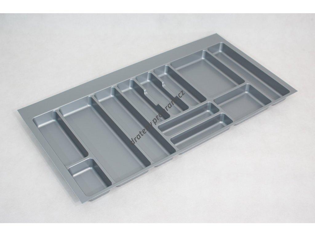 plastový příborník šedý M100
