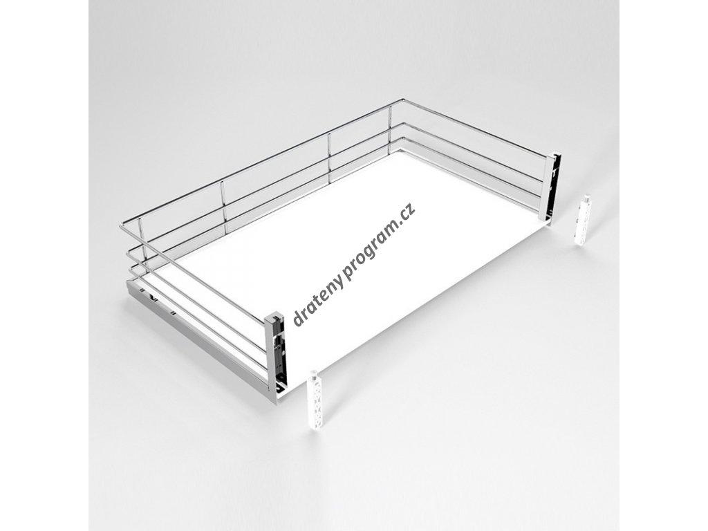 DOPRODEJ - Plnovýsuvný koš Compact s úchyty na dvířka, plné dno, výsuv Hettich, 400