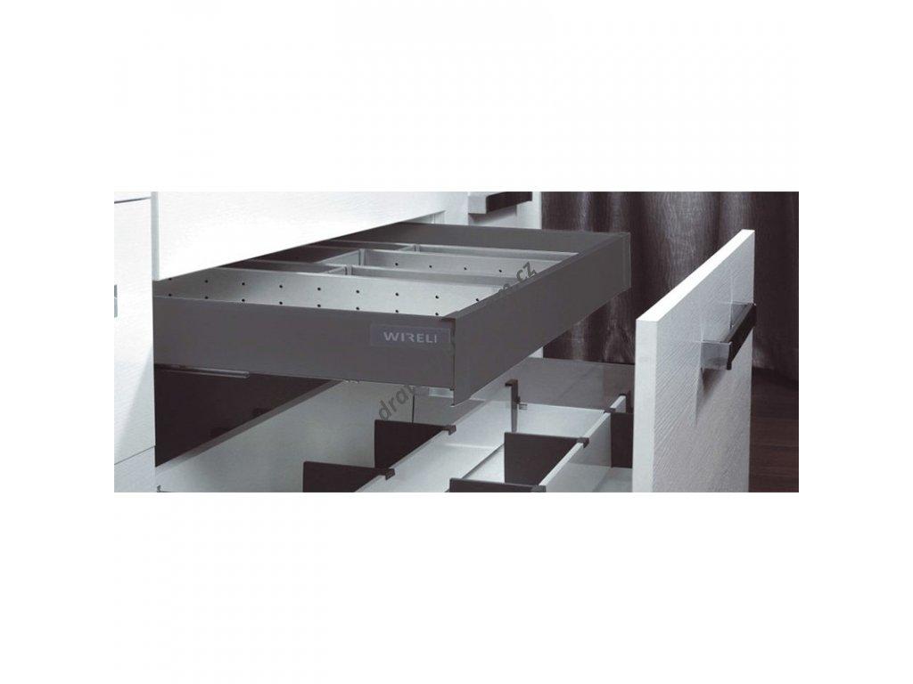 Návod na sestavení vnitřního výsuvného boxu Elegance - bílý / antracit