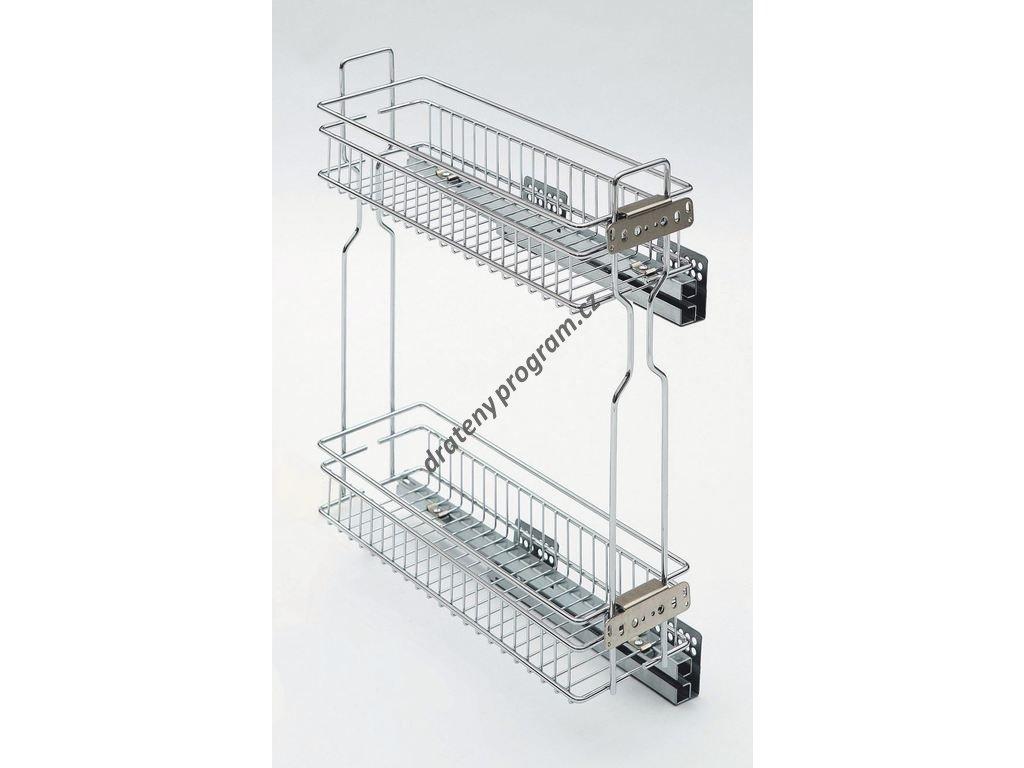Plnovýsuvný dvojkoš boční Komfort s tlum. dovřením, Levý, 160x485x543 mm, chrom