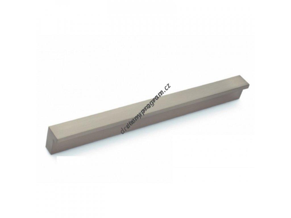 Úchytka DU02 - 224mm, nikl broušeny