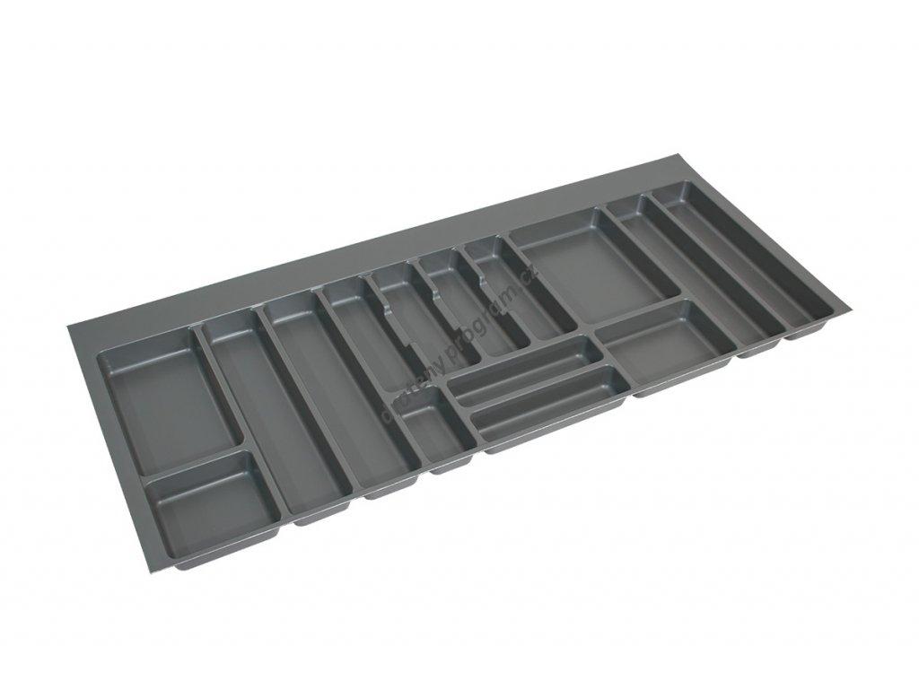 Rozdělovník plastový do zásuvky M120 1136x482mm - antracit