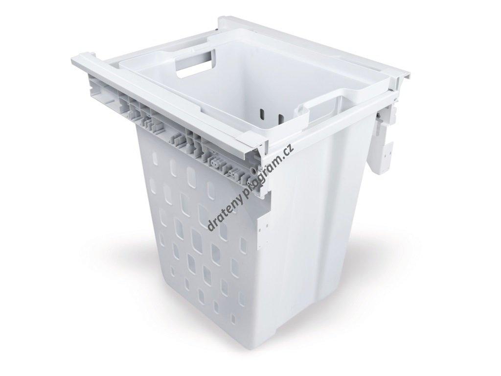 Prádelní koš Vantage, 40 l - bílý plast
