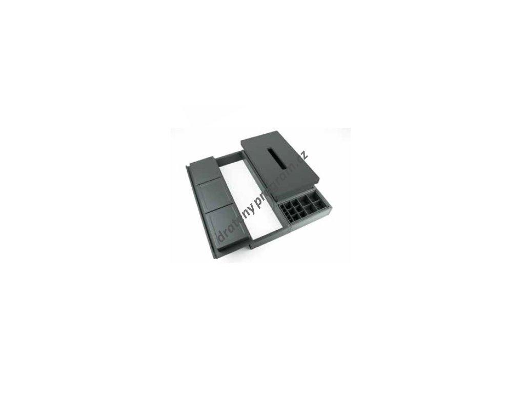 Rozdělovník ONDA 400 do zásuvky, nastavitelný 288-378x372x69 mm, plast, antracit