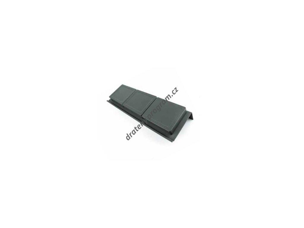 Rozdělovník ONDA 400 do zásuvky, 3 mísky, 122x372x69 mm, plast, antracit