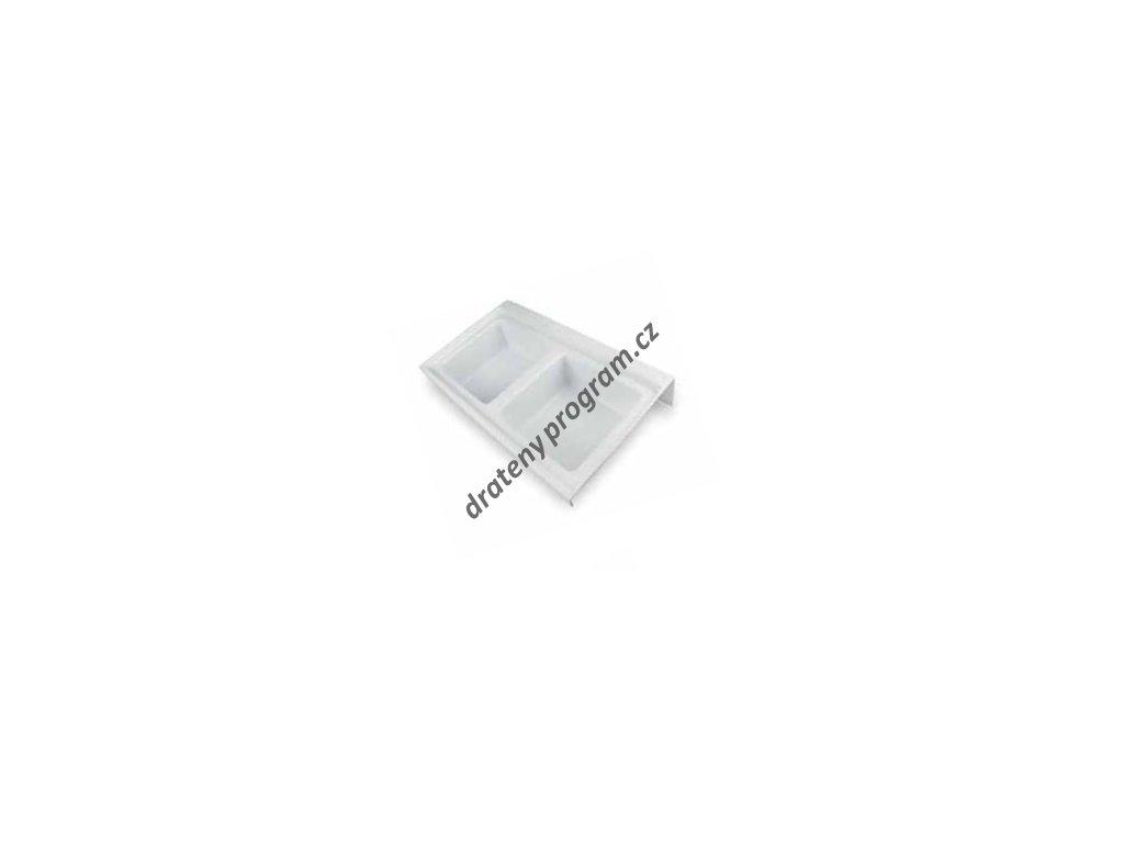 Rozdělovník ONDA 400 do zásuvky, 236x372x84 mm, plast, bílý