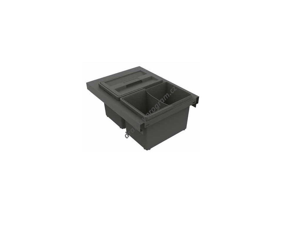 Odpadkový koš SLIM 400, 2x8 l - antracit
