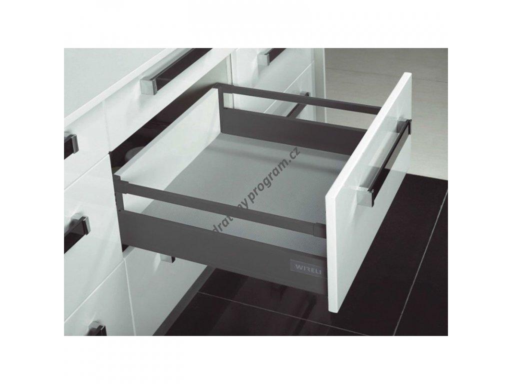 Výsuvný box Elegance 450 s relingem - antracit