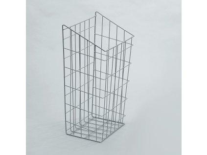 Prádelní koš výklopný, 340x245x600 mm, stříbrný epoxid